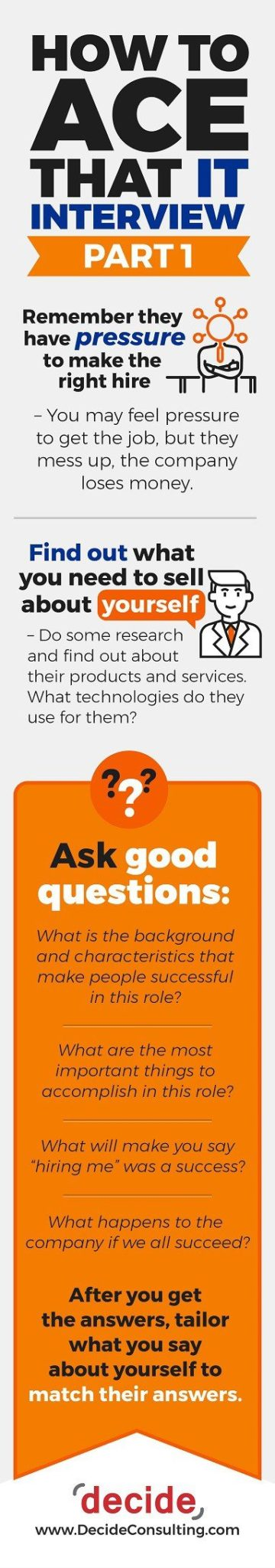 Ace That IT Interview Part 1 [INFOGRAPHIC]