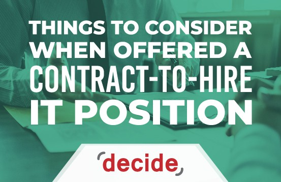 things Consider offer contract to hire