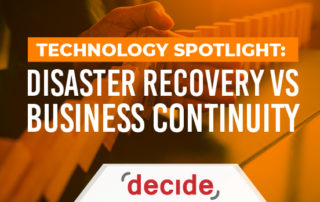 Disaster Recover vs Business continuity