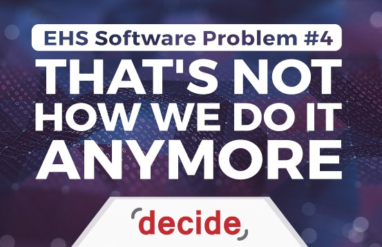 EHS Software Problem not How done
