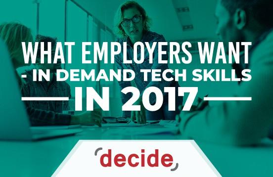 Employers want tech skills 2017