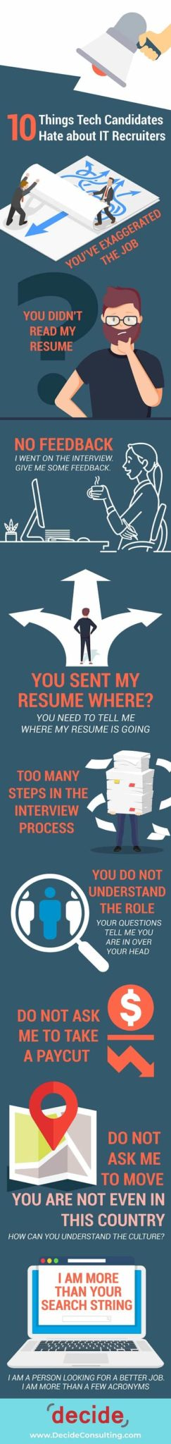 Infographic 10 Things Tech Candidates Hate about IT Recruiters