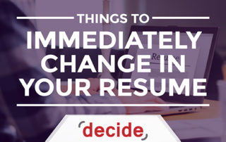 Things to immediately change in your resume