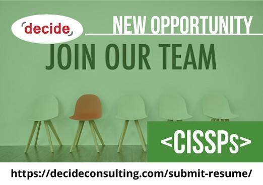 Decide Consulting Hiring CISSP