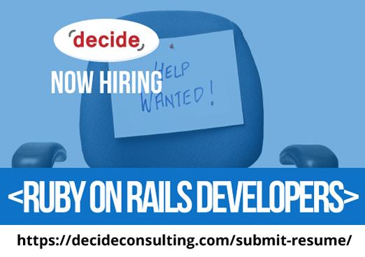 decide consulting hiring Ruby Rails Developer
