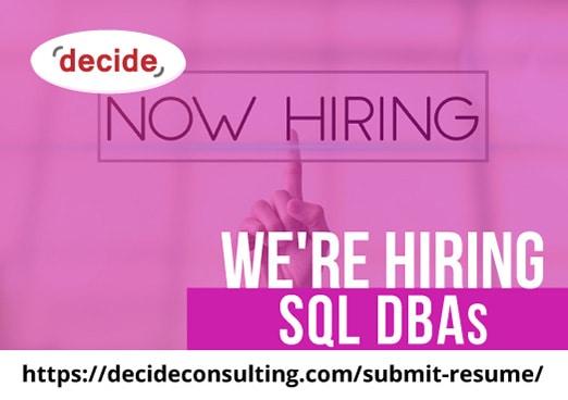 Were Hiring SQL DBAs