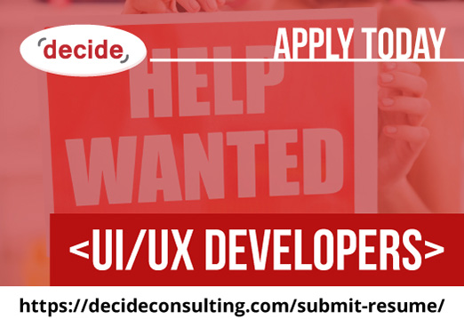 decide consulting hiring UI/UXdevelopers