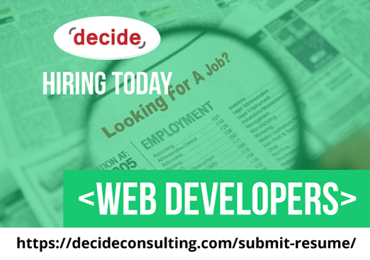 Decide Consulting Hiring Web Developers