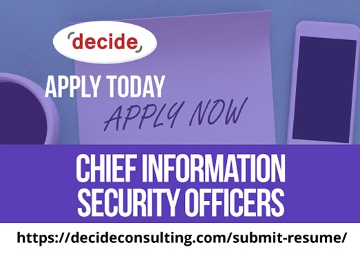 We're hiring Chief Information Security Officers