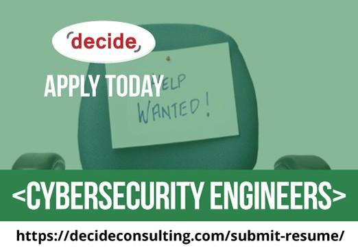 We're hiring Cybersecurity Engineers