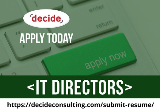 We're hiring IT Directors