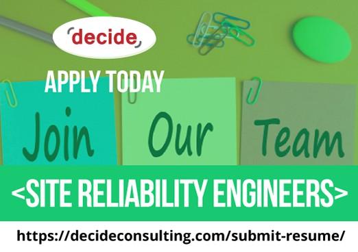 We're hiring Site Reliability Engineers