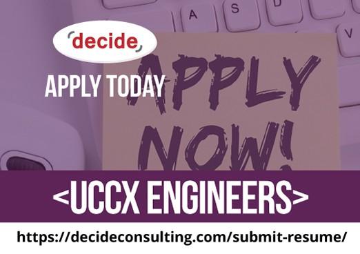 We're hiring UCCX Engineers