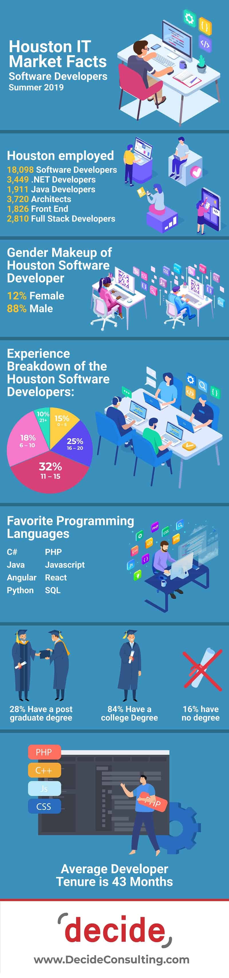 Infographic Houston IT Market Software Developers
