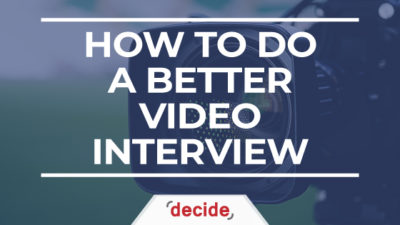 How To Do Better Video Interview