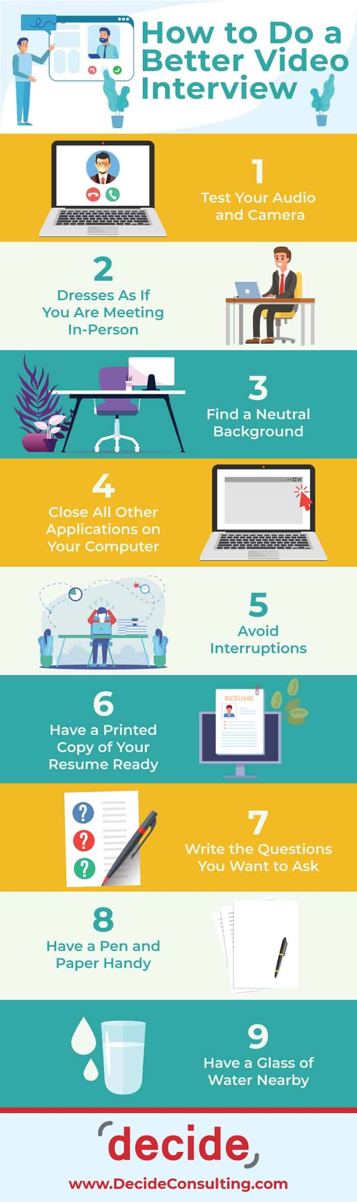 infographic - How to Do a Better Video Interview