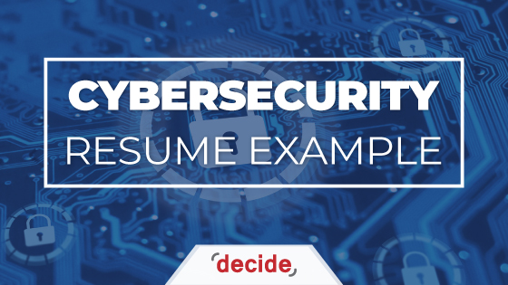 Cybersecurity Resume example