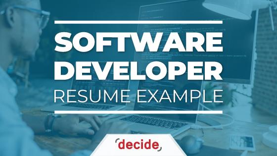 Software Developer Resume example
